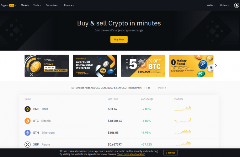 BINANCE – Margin Exchange Guide + 20% FEE DISCOUNT