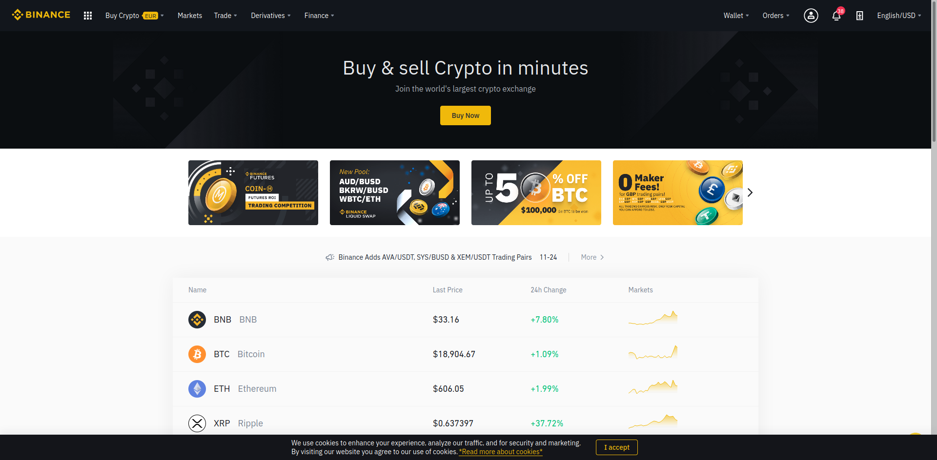 binance.com exchange overview